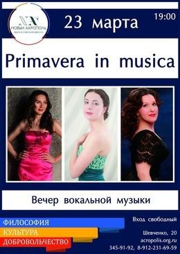 «Primavera in musica»