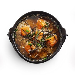 Суп с лососем на ужин приносим