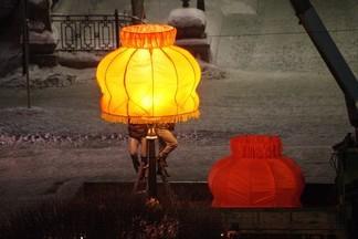 Оранжевые абажуры появились на проспекте Ленина раньше обычного