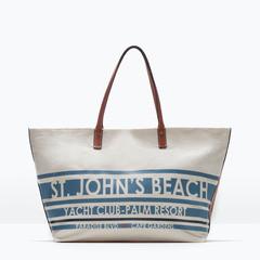 Сумка ZARA Тканевая сумка-шоппер 4442/004