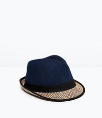 ZARA Шляпа из хлопка и соломы 3920/411