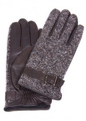 lapin66 Кожаные перчатки с верхом из текстиля