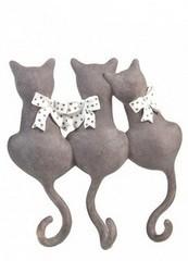 Красный Куб Вешалка декоративная «Котики с бантиками»