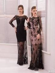Viva Вечернее платье с прозрачной гипюровой юбкой