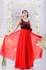 Viva Коралловое вечернее платье