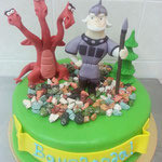 Торт Zara-торт Детский торт Богатыри