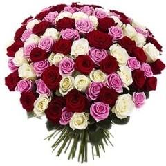 """Букетик 66 Букет из 101 розы """"Эквадор"""""""