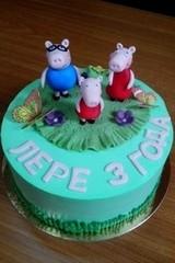 Торт Торт-Мне Семья Пеппы