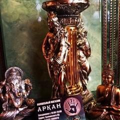 """Аркан Подсвечник """"Богиня изобилия"""" бронза-серебро"""