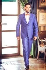 Viva Синий мужской костюм