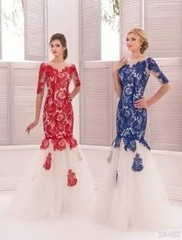 Viva Сине-белое платье 46р.