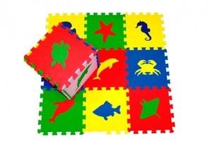 Игрушка66 Экополимеры Детский коврик-пазл «Морские животные» - фото 3
