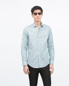 ZARA Рубашка с принтом - фото 1