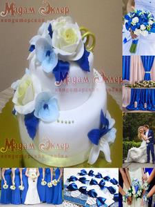 Торт Мадам Эклер Синяя роза - фото 1