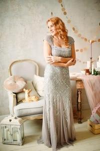 Be My Dress Adrianna Papell Вечернее серебристое платье - фото 1