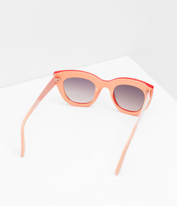ZARA Солнцезащитные очки в красно-коралловой оправе - фото 2