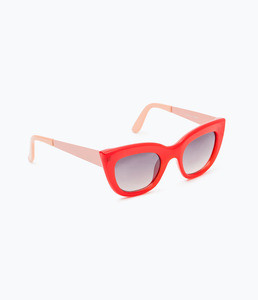 ZARA Солнцезащитные очки в красно-коралловой оправе - фото 1
