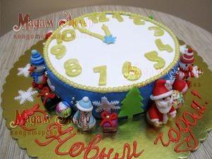 Торт Мадам Эклер Новогодние часы - фото 1