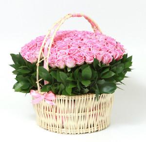 Букетик 66 Корзина c розами - фото 1