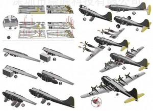 """Игрушка66 Объёмный подвижный 3D пазл """"Самолет"""" - фото 2"""