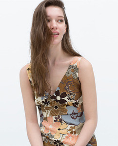 ZARA Жаккардовое платье TRF - фото 5