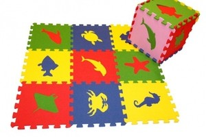 Игрушка66 Экополимеры Детский коврик-пазл «Морские животные» - фото 5