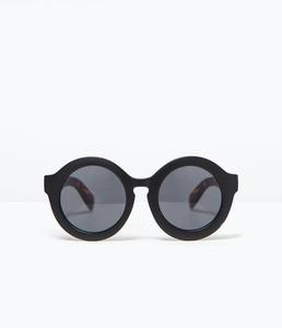 ZARA Очки в круглой оправе с дужками с отделкой под черепаху - фото 1