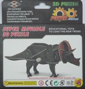 """Игрушка66 Объёмный подвижный 3D пазл """"Бронтозавр"""" - фото 3"""