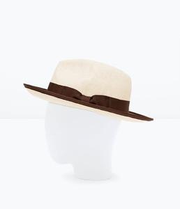 ZARA Соломенная шляпа с большими полями - фото 2