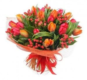 """Красная орхидея Букет """"Пунш"""" - фото 1"""
