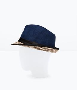 ZARA Шляпа из хлопка и соломы 3920/411 - фото 2