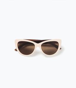 ZARA Очки солнцезащитные в стиле ретро - фото 3