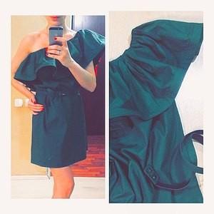 Модный домик Платье с ассимметричным воротником - фото 1