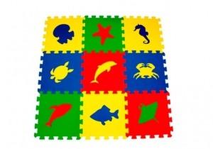 Игрушка66 Экополимеры Детский коврик-пазл «Морские животные» - фото 1