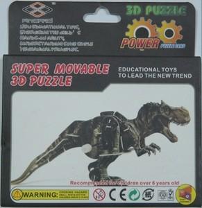 """Игрушка66 Объёмный подвижный 3D пазл """"Тиранозавр"""" - фото 3"""