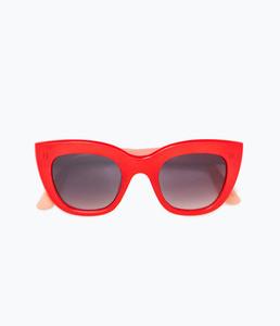 ZARA Солнцезащитные очки в красно-коралловой оправе - фото 3