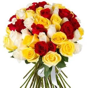 """Букетик 66 Букет из 51 розы """"Эвадор"""" - фото 3"""