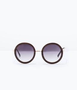 ZARA Солнцезащитные очки в деревянной оправе - фото 2