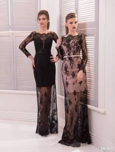 Viva Вечернее платье с прозрачной гипюровой юбкой - фото 1