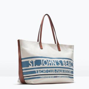 Сумка ZARA Тканевая сумка-шоппер 4442/004 - фото 2