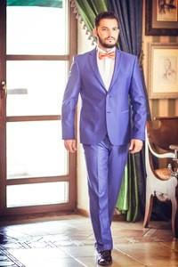 Viva Синий мужской костюм - фото 1