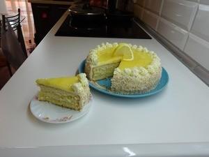 Торт Little Angel Cake Lemon Coconut Cake (Лимонно-кокосовый) - фото 1
