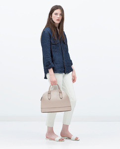 Сумка ZARA Двойная сумка-портфель - фото 9