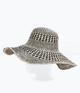 ZARA Шляпа широкополая двухцветная 0049/005 - фото 3