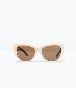 ZARA Очки солнцезащитные в стиле ретро - фото 1
