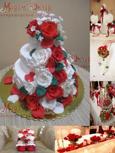 Торт Мадам Эклер Розы - фото 1