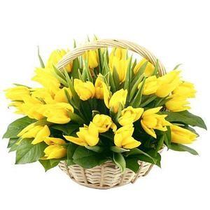 """Букетик 66 Корзина цветов """"Весна"""" - фото 1"""
