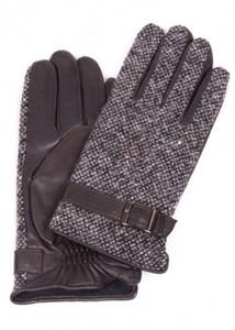 lapin66 Кожаные перчатки с верхом из текстиля - фото 1