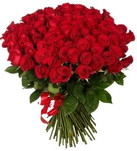 """Букетик 66 Букет из 101 розы """"Россия"""" - фото 1"""