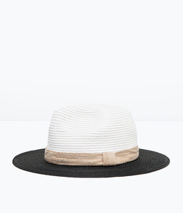 ZARA Двухцветная шляпа 0049/006 - фото 1